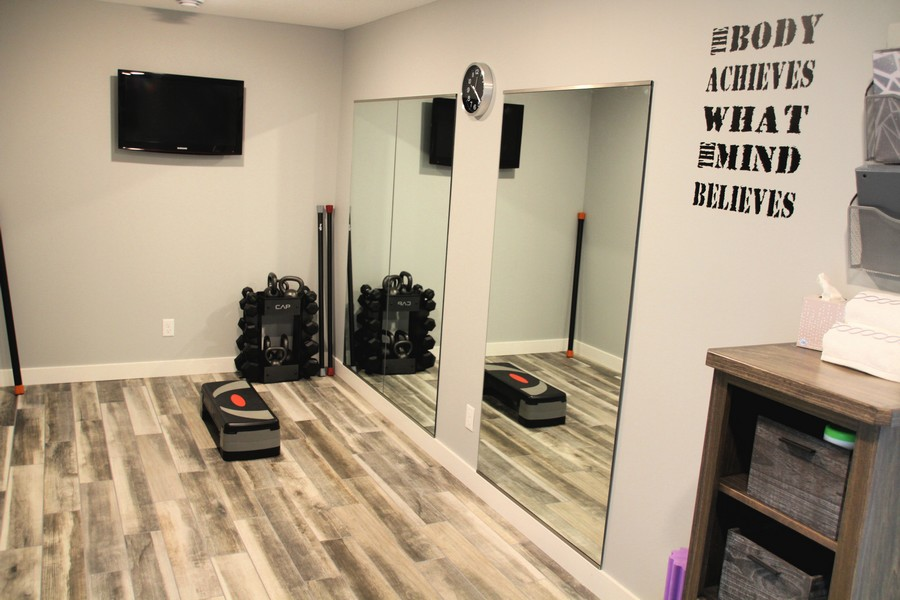 Anne's workout space